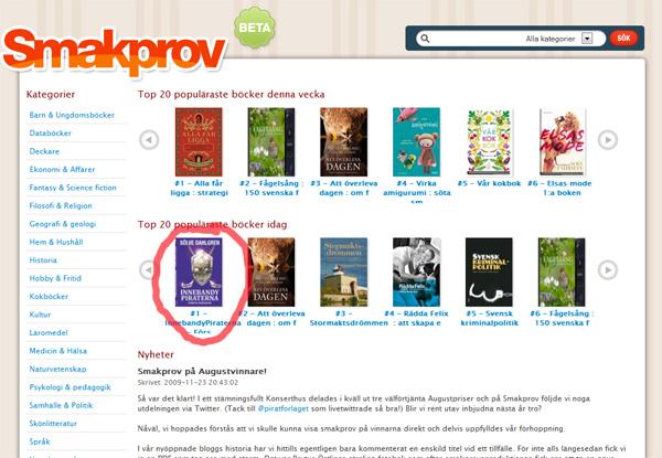 InnebandyPiraterna populär på Smakprov.se
