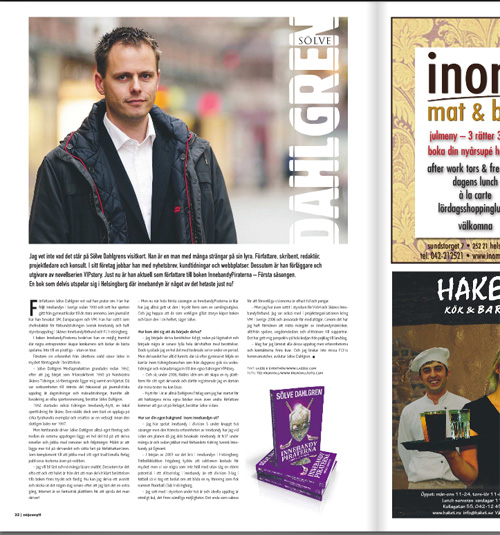 Artikel i Nöjesnytt december 2009